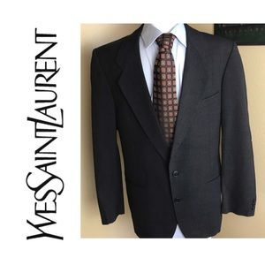 Vintage Yves Saint Laurent black two button blazer